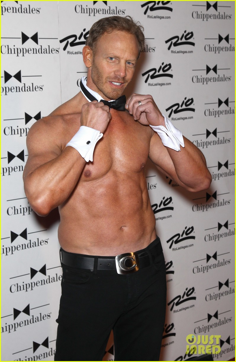 ian ziering shirtless chippendales debut 052887413
