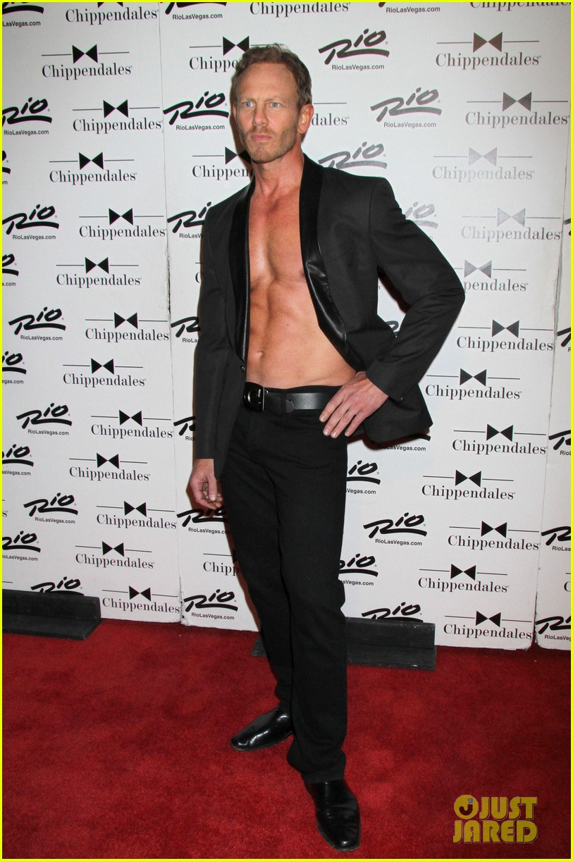 ian ziering shirtless chippendales debut 072887415