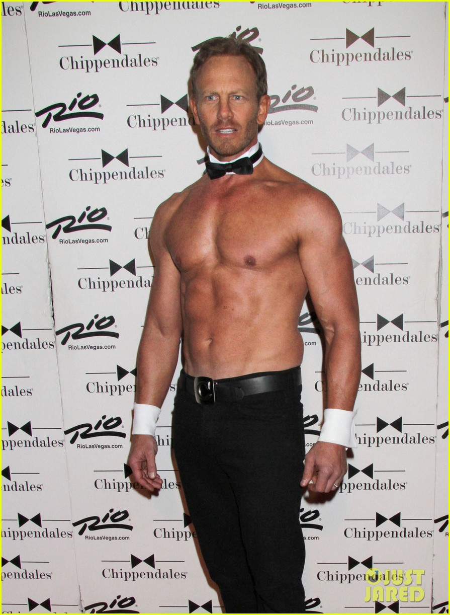 ian ziering shirtless chippendales debut 092887417