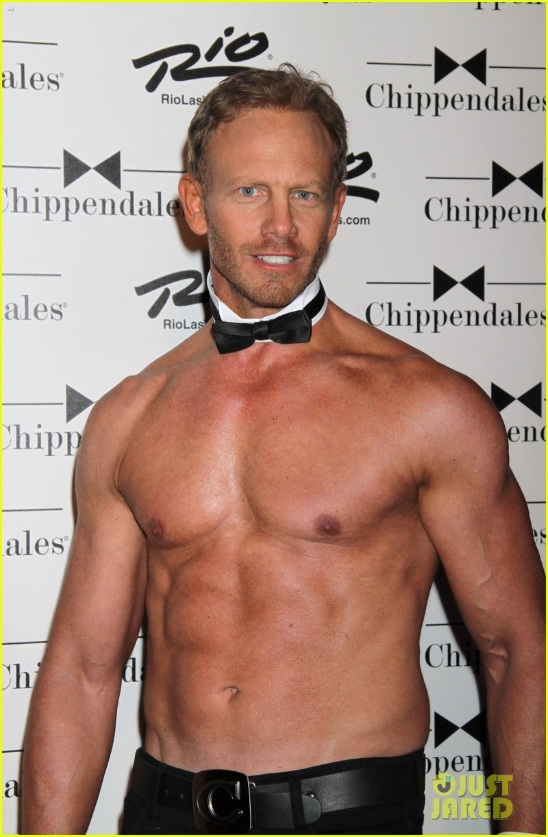 ian ziering shirtless chippendales debut 112887419