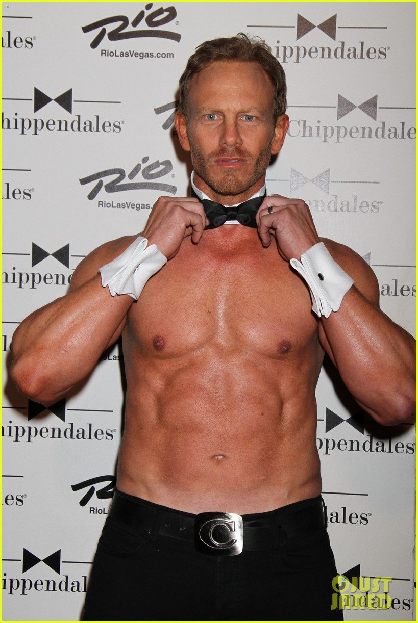 ian ziering shirtless chippendales debut 132887421