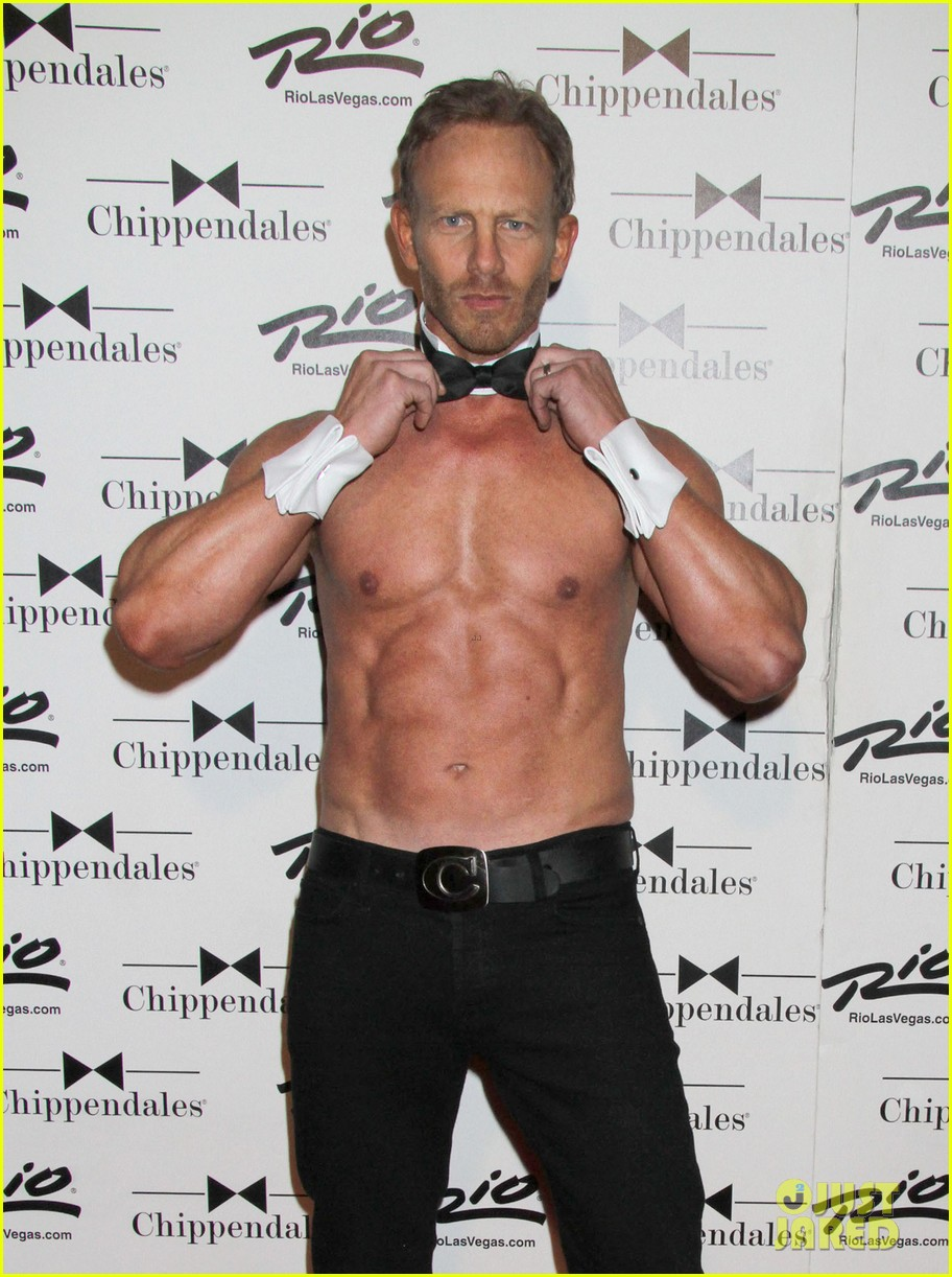 ian ziering shirtless chippendales debut 142887422