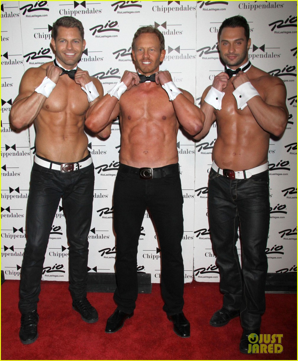 ian ziering shirtless chippendales debut 162887424