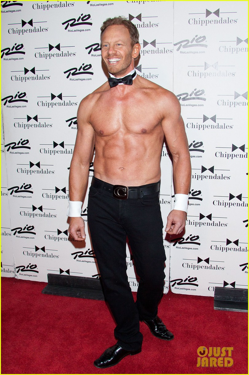 ian ziering shirtless chippendales debut 212887429