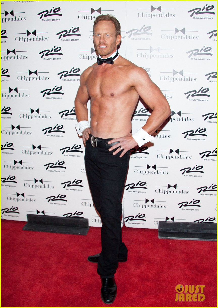 ian ziering shirtless chippendales debut 252887433