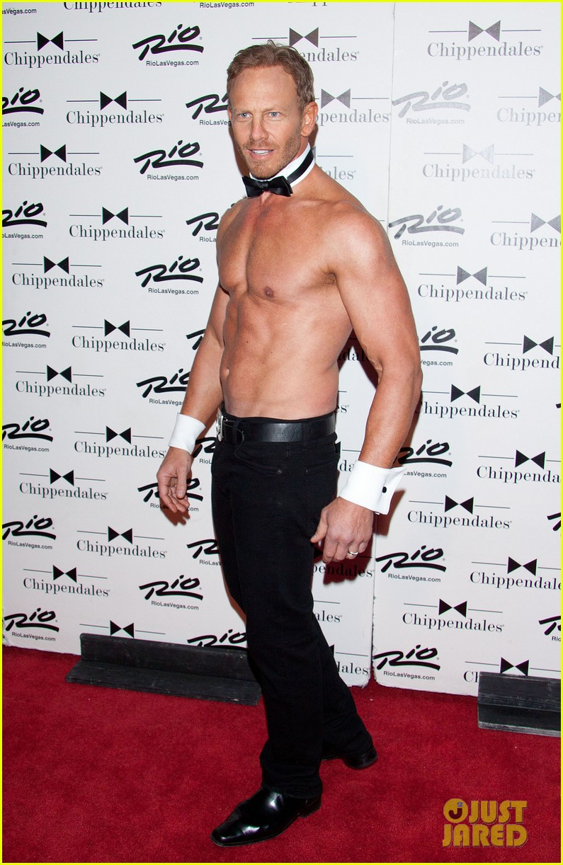 ian ziering shirtless chippendales debut 262887434