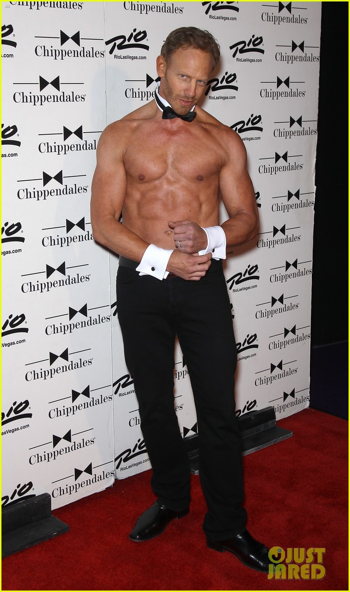 ian ziering shirtless chippendales debut 282887436