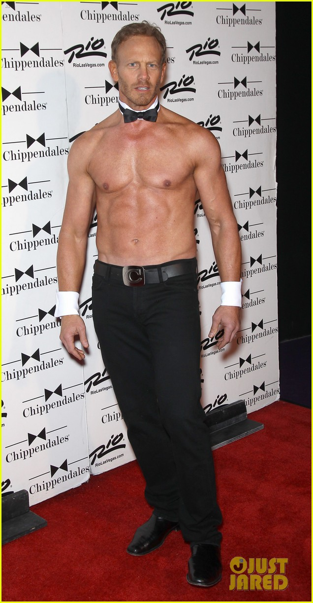 ian ziering shirtless chippendales debut 292887437