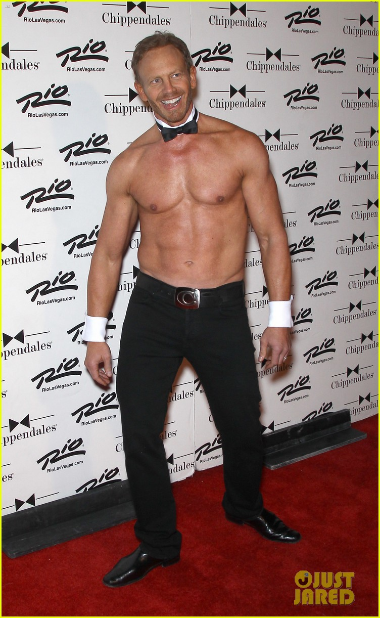 ian ziering shirtless chippendales debut 302887438