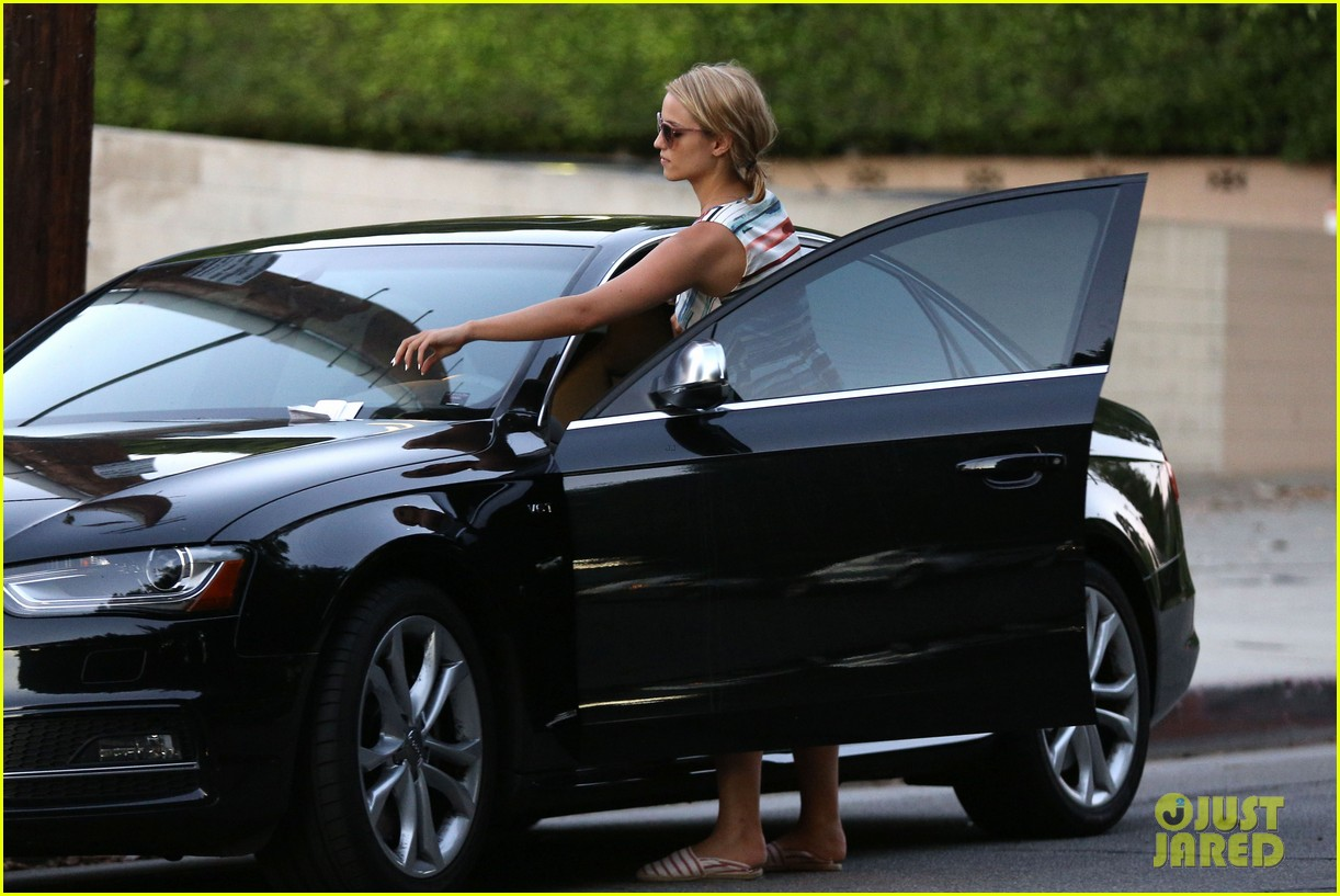 dianna agron kisses her new puppy on wednesday outing 122911288