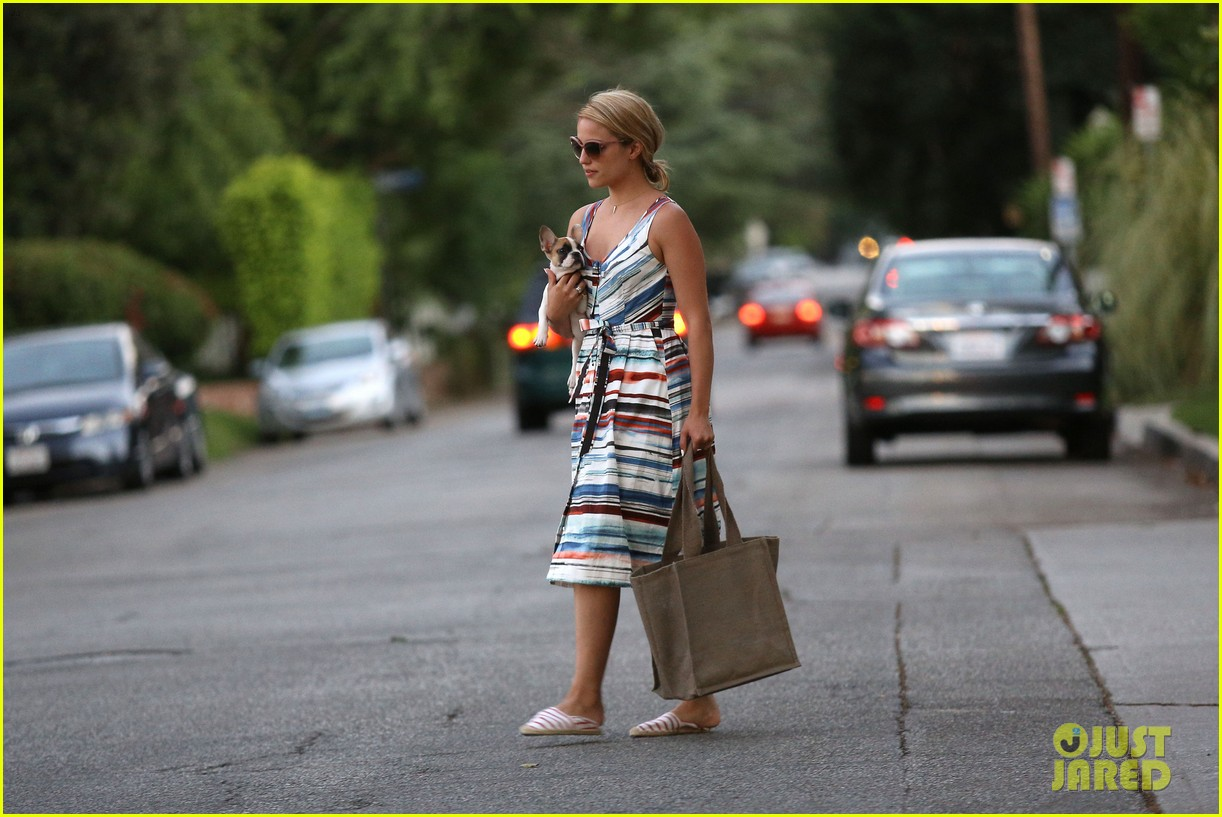 dianna agron kisses her new puppy on wednesday outing 172911293