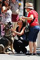 jennifer aniston walks dog gets justin theroux visit on set 07