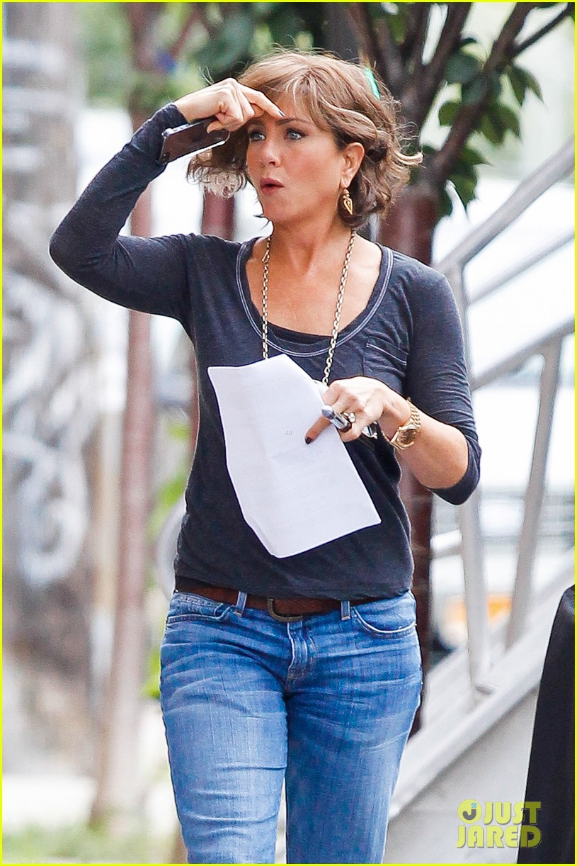 jennifer aniston bespeckled on squirrels set 172916818