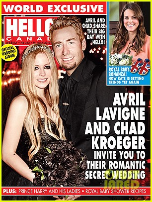 avril lavigne debuts wedding photo with chad kroeger 012903207