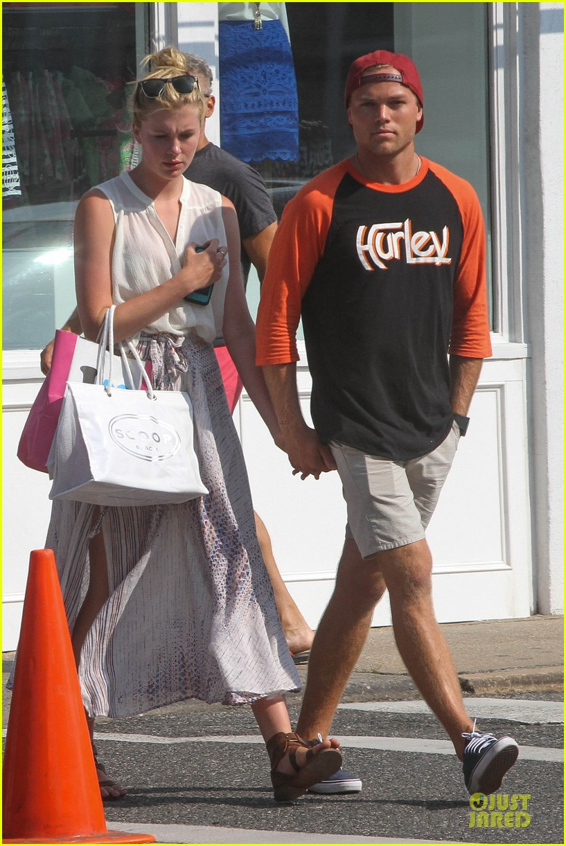 ireland baldwin slater trout hold hands in the hamptons 132914430