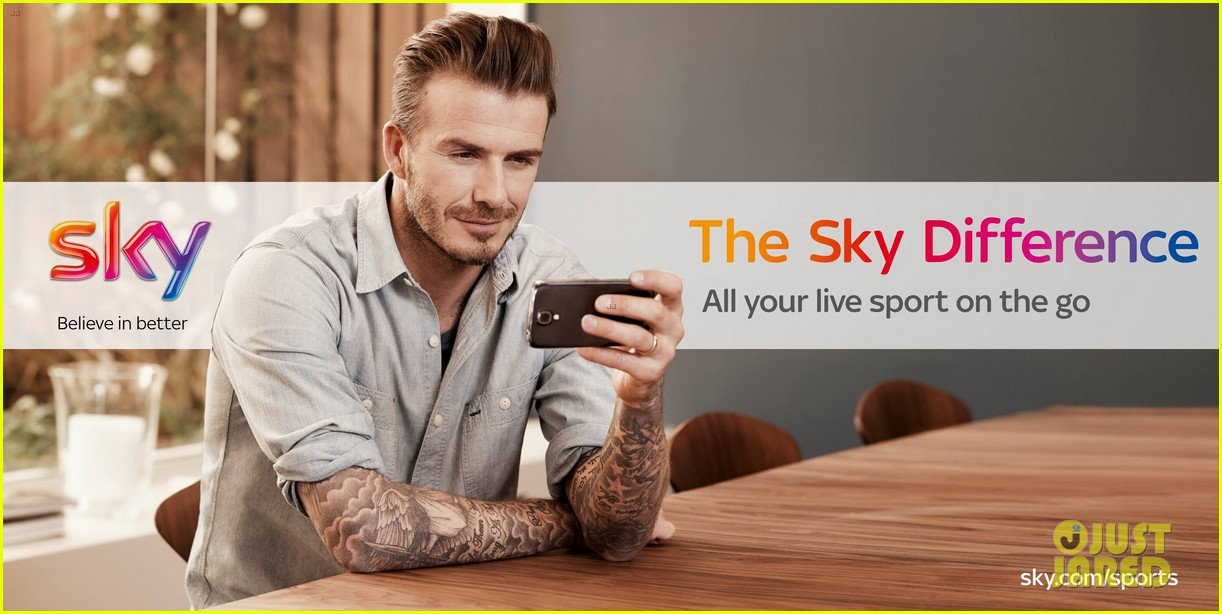 david beckham sky sports tv commercial ad campaign 012909730