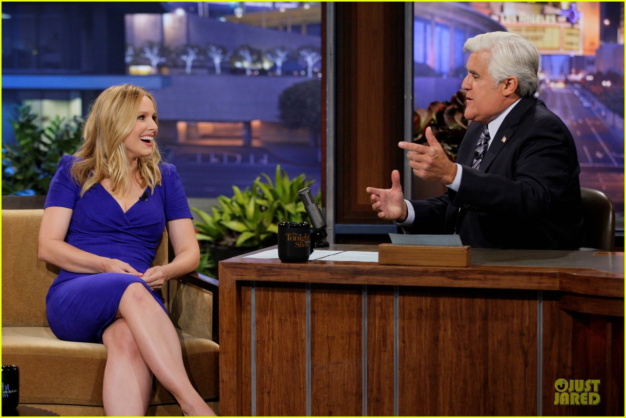 kristen bell jake johnson tonight show with jay leno guests 012919880