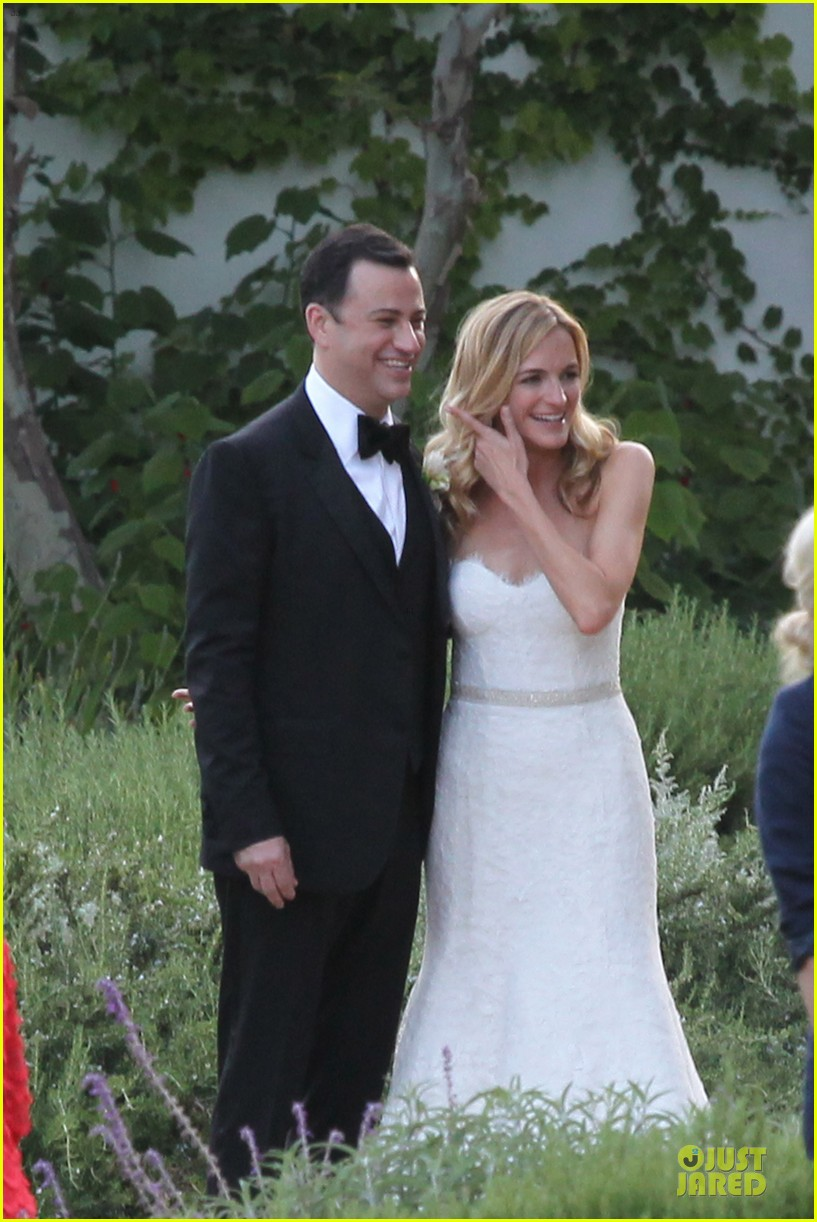kristen bell dax shephard jimmy kimmel molly mcnearney wedding pic 082909138