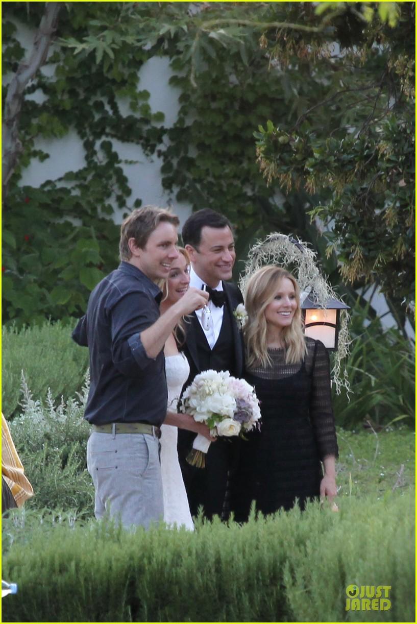 kristen bell dax shephard jimmy kimmel molly mcnearney wedding pic 112909141
