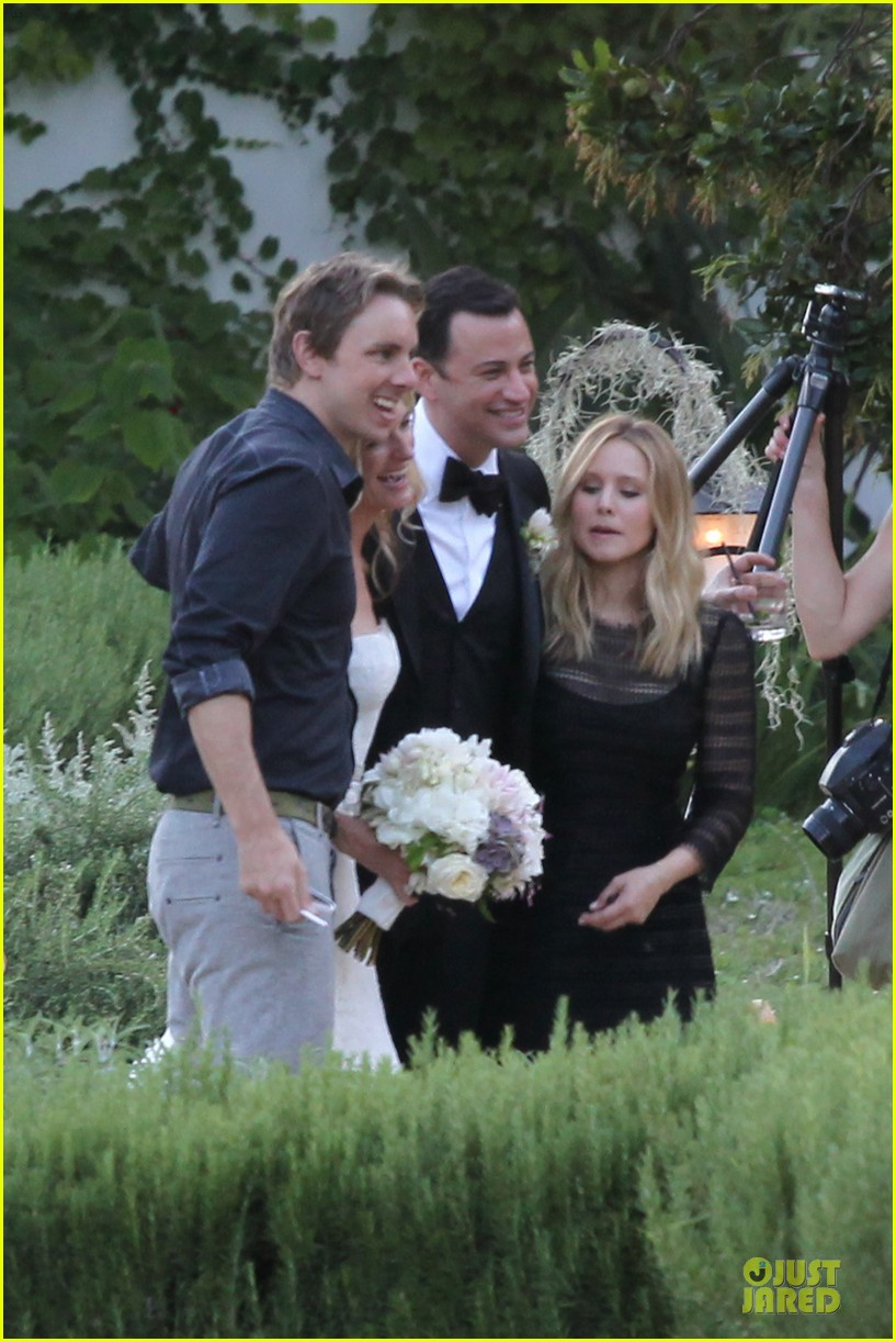 kristen bell dax shephard jimmy kimmel molly mcnearney wedding pic 122909142