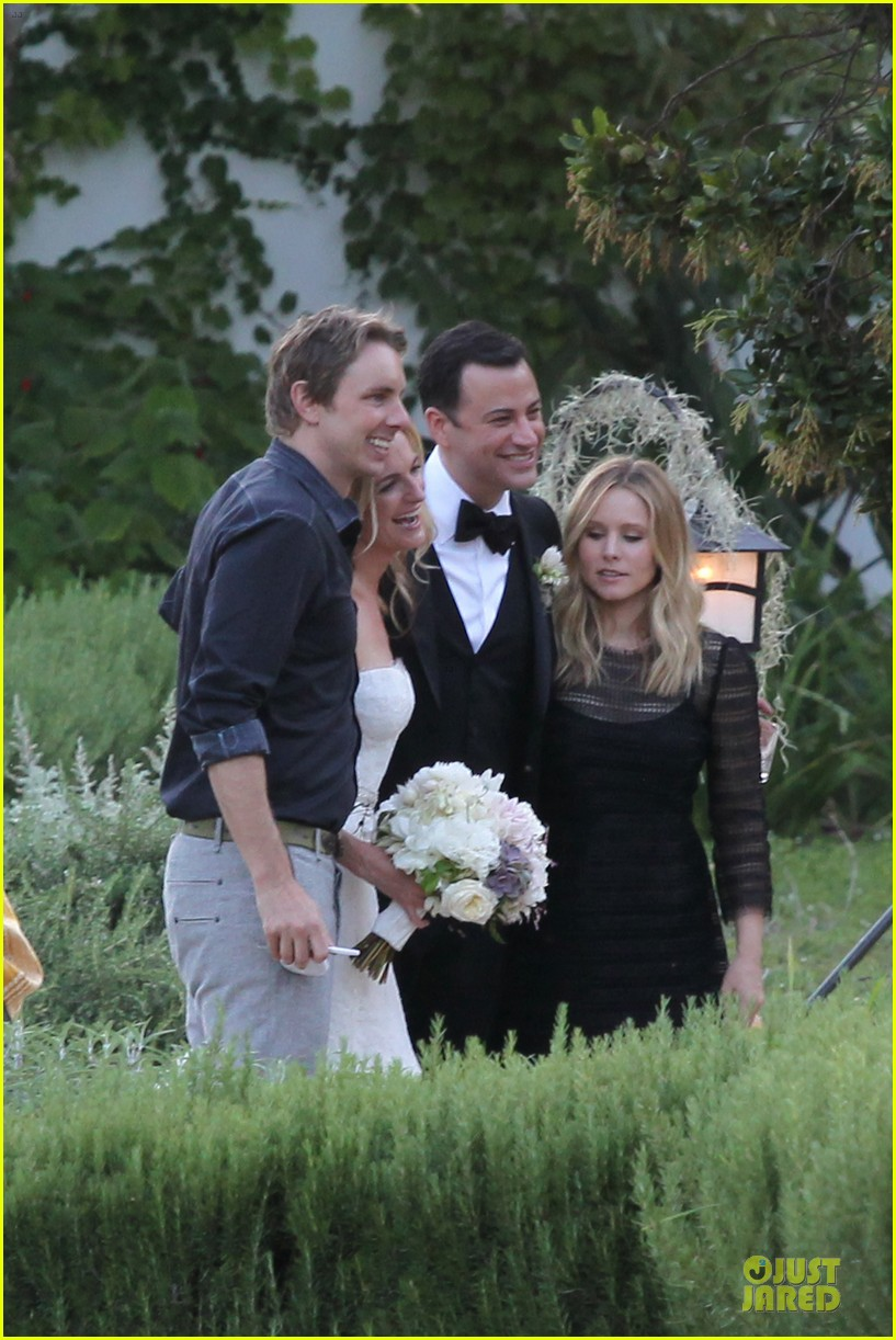 kristen bell dax shephard jimmy kimmel molly mcnearney wedding pic 152909145