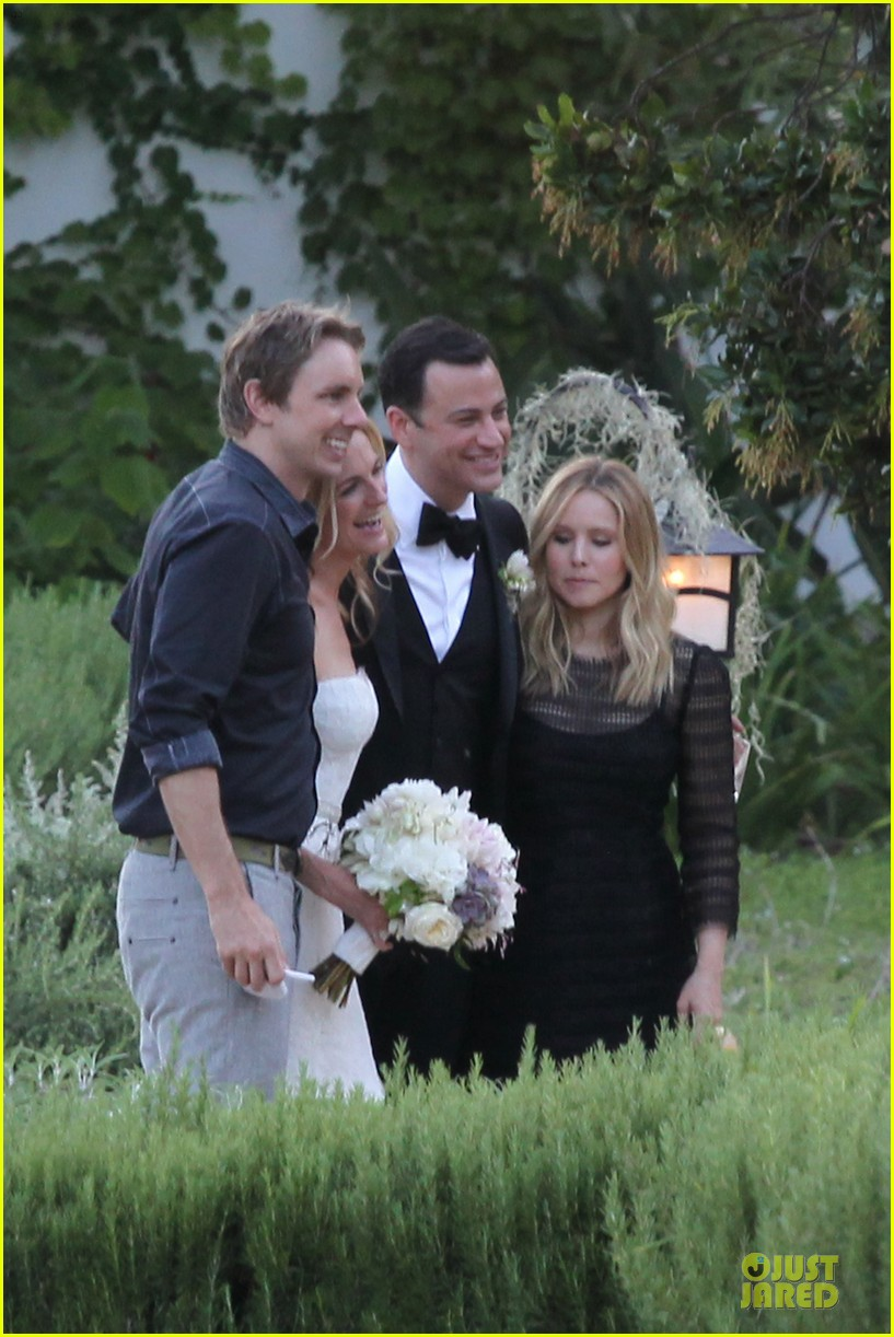 kristen bell dax shephard jimmy kimmel molly mcnearney wedding pic 162909146