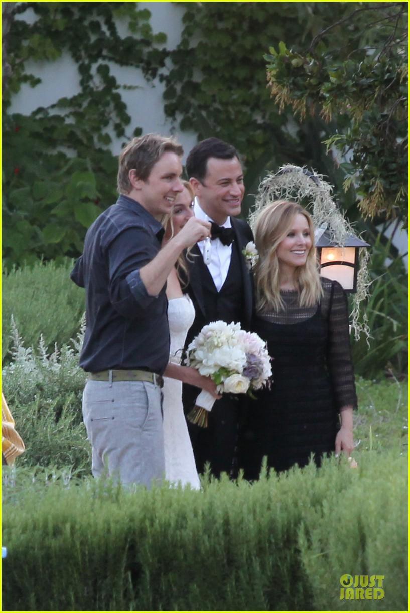 kristen bell dax shephard jimmy kimmel molly mcnearney wedding pic 172909147