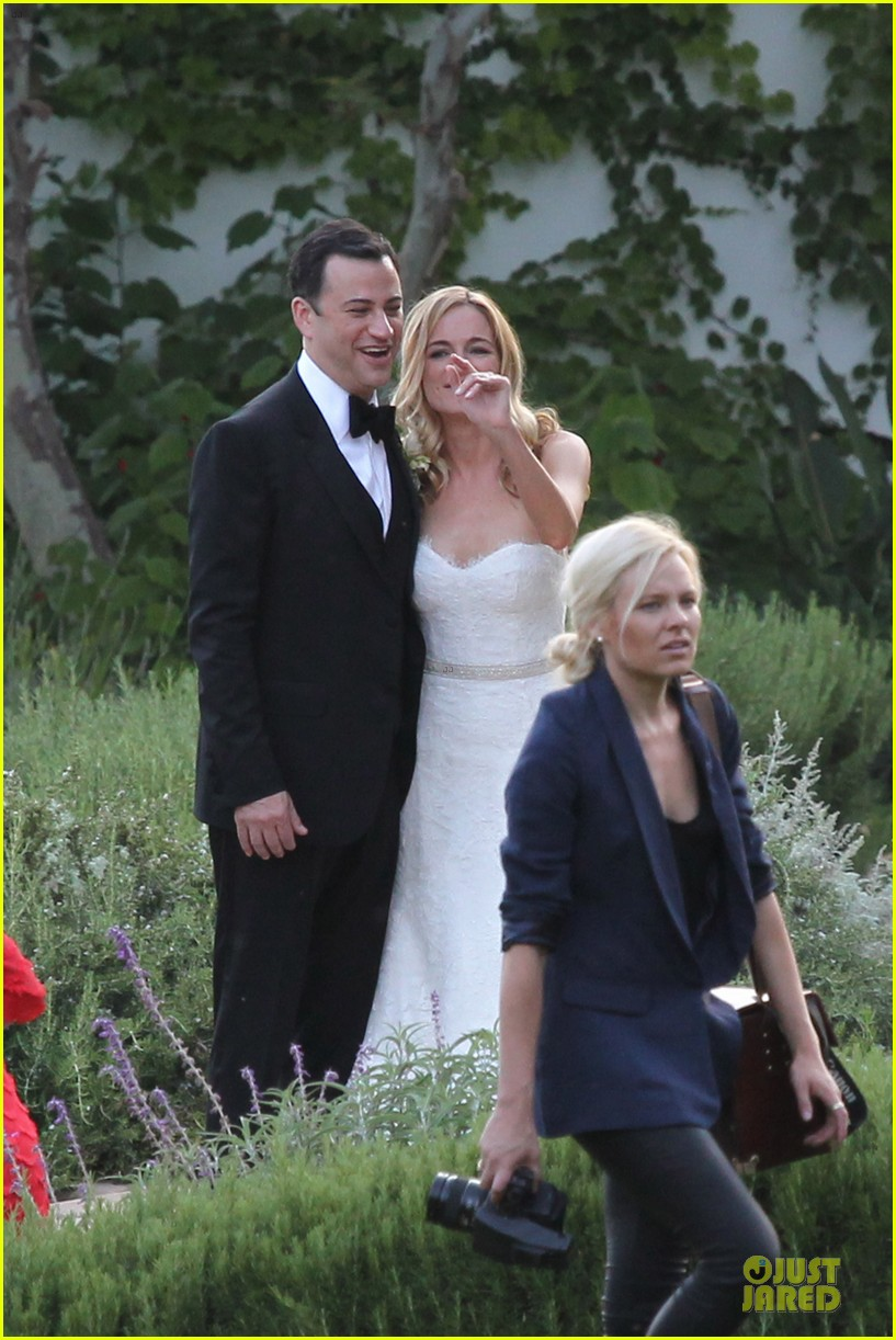 kristen bell dax shephard jimmy kimmel molly mcnearney wedding pic 19