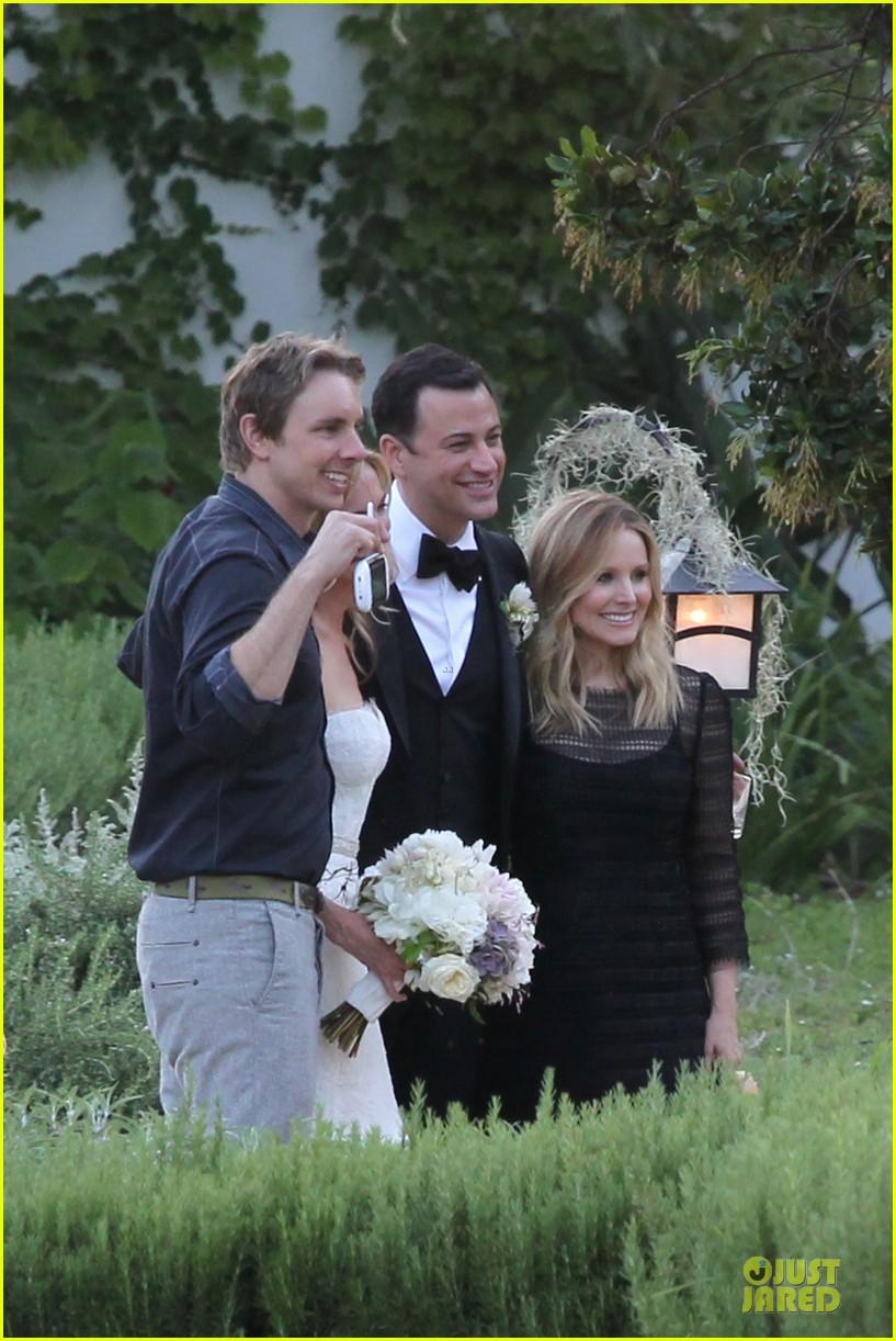 kristen bell dax shephard jimmy kimmel molly mcnearney wedding pic 212909151