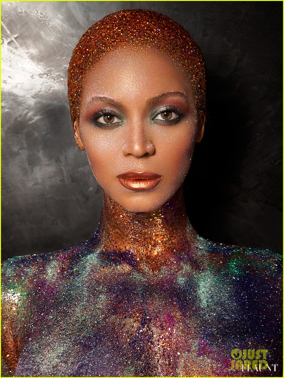 beyonce naked glittered for flaunt magazine 052907234