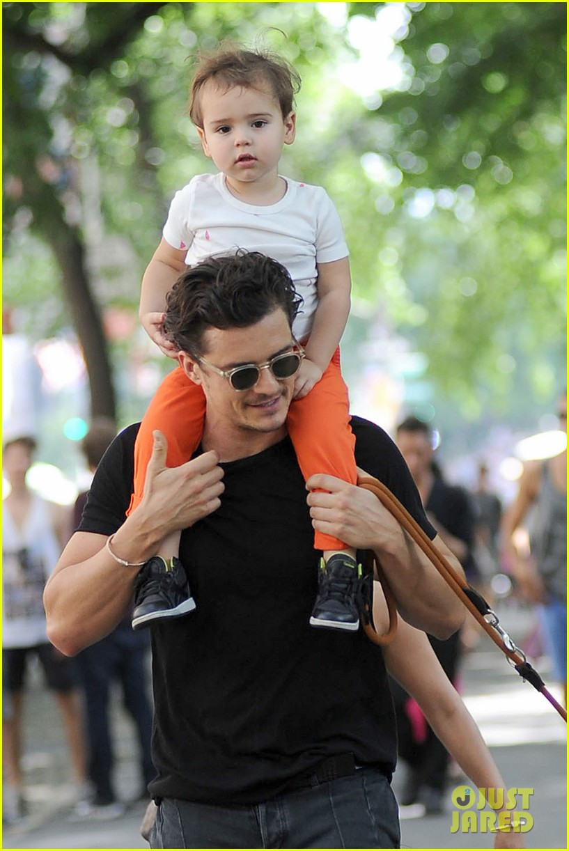 orlando bloom daddy day out with flynn 242905622