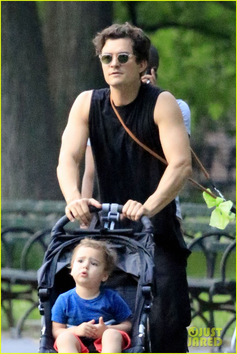 orlando bloom father son day with flynn 05