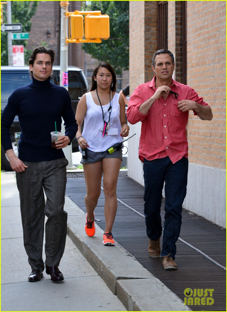 matt bomer taylor kitsch film normal heart in nyc 122903261