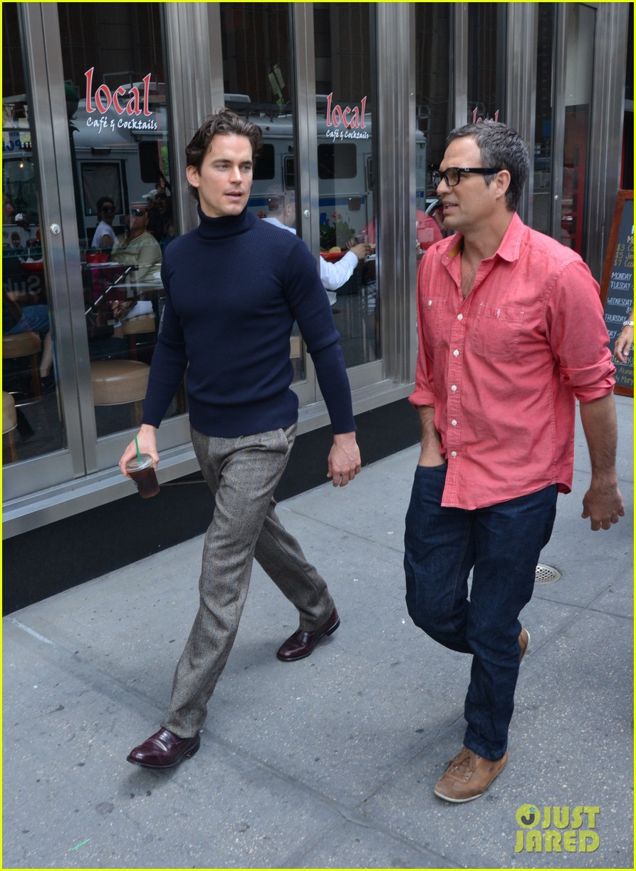 matt bomer taylor kitsch film normal heart in nyc 132903262