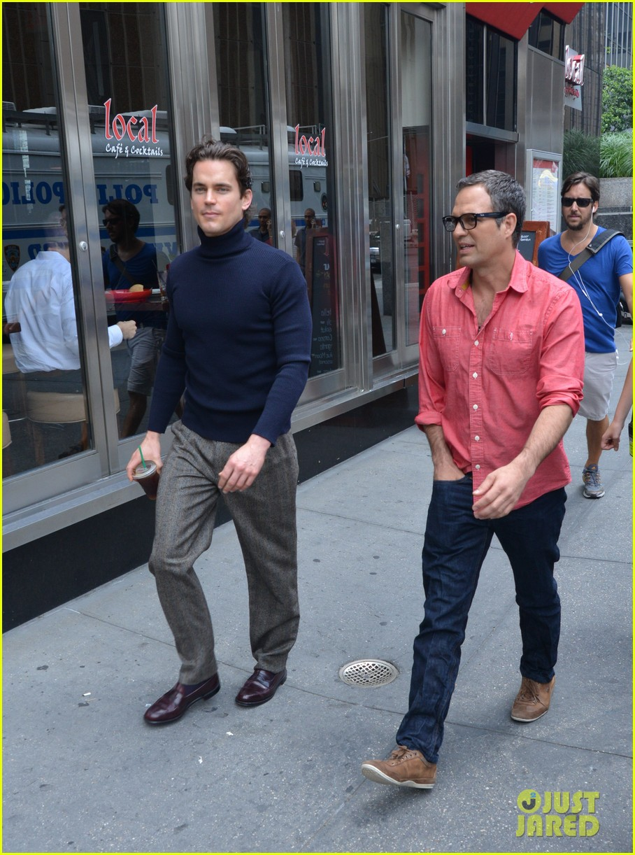 matt bomer taylor kitsch film normal heart in nyc 142903263