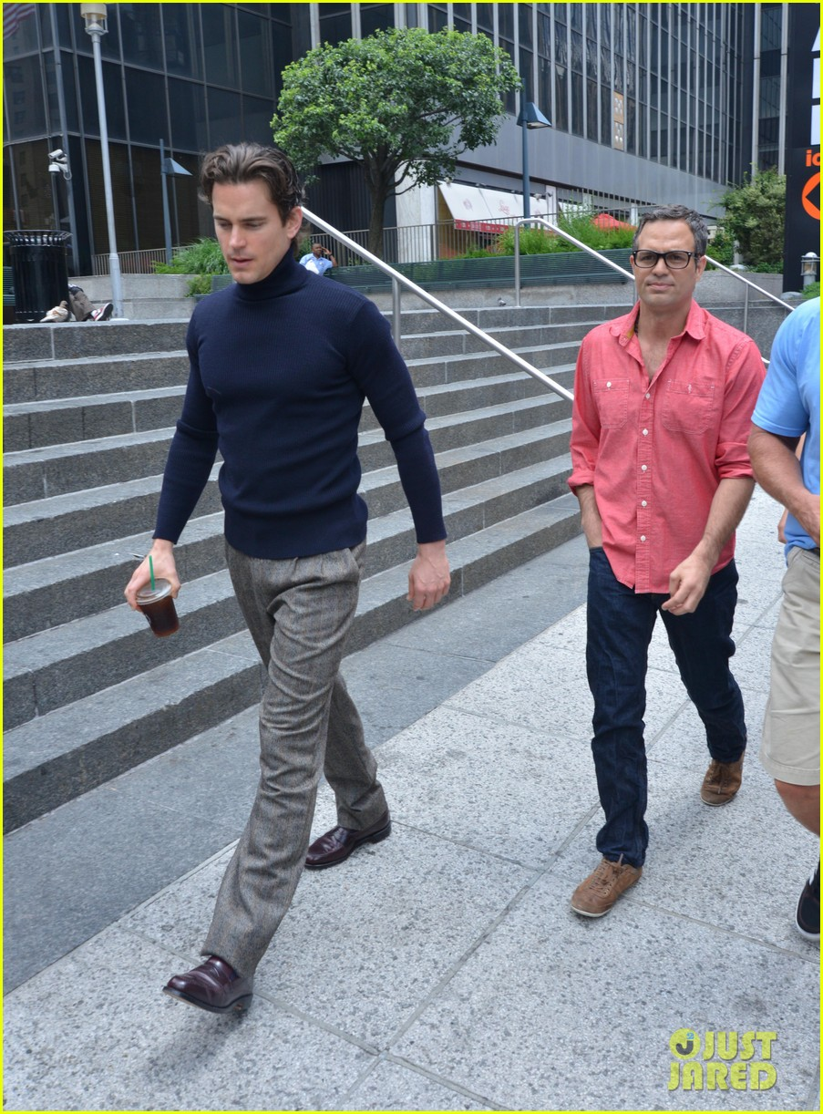 matt bomer taylor kitsch film normal heart in nyc 162903265