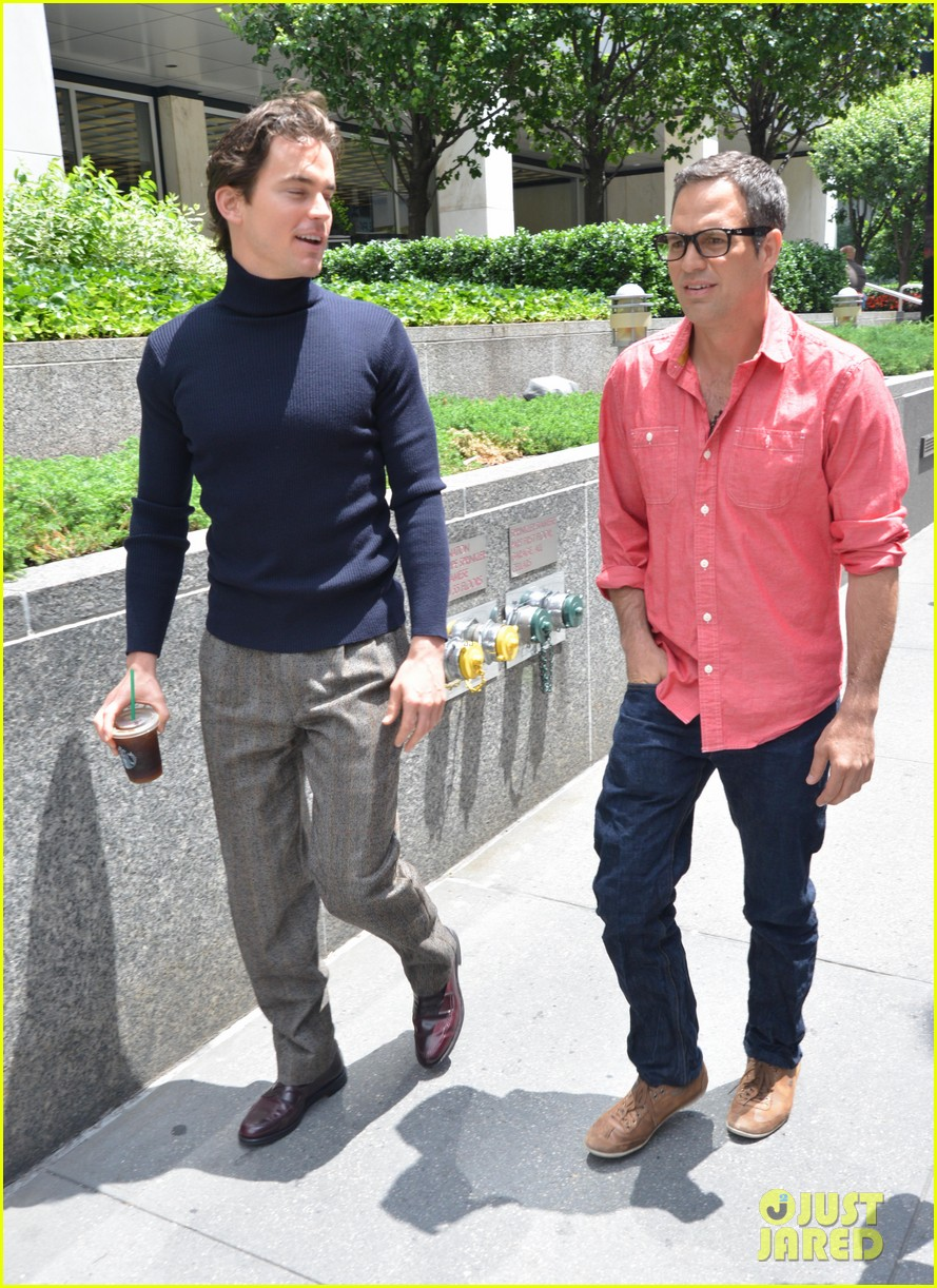 matt bomer taylor kitsch film normal heart in nyc 19