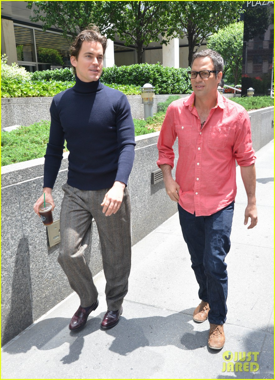 matt bomer taylor kitsch film normal heart in nyc 212903270