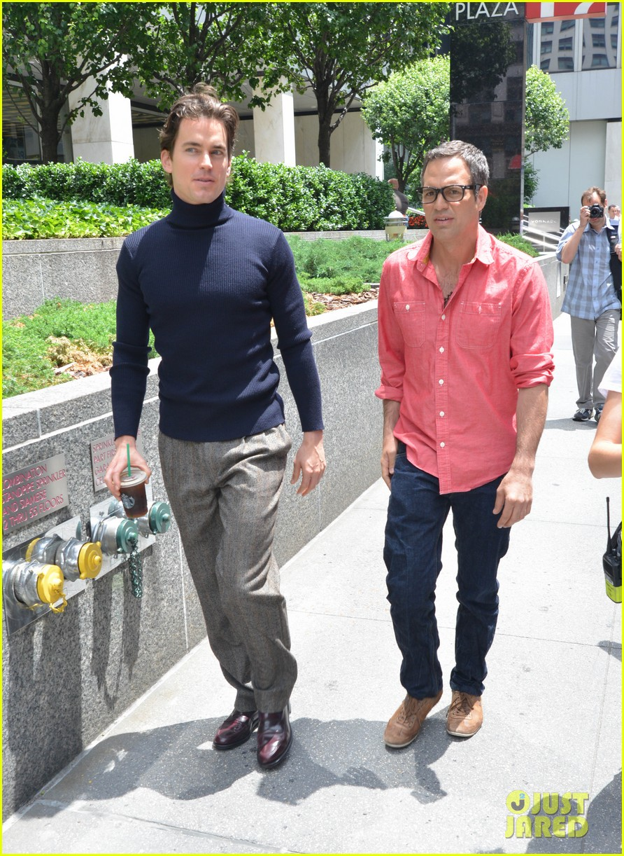 matt bomer taylor kitsch film normal heart in nyc 222903271