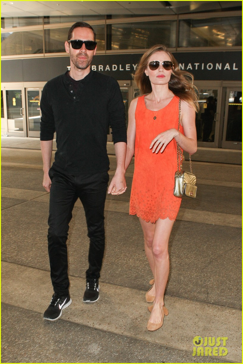 kate bosworth michael polish land at lax on july 4th 01