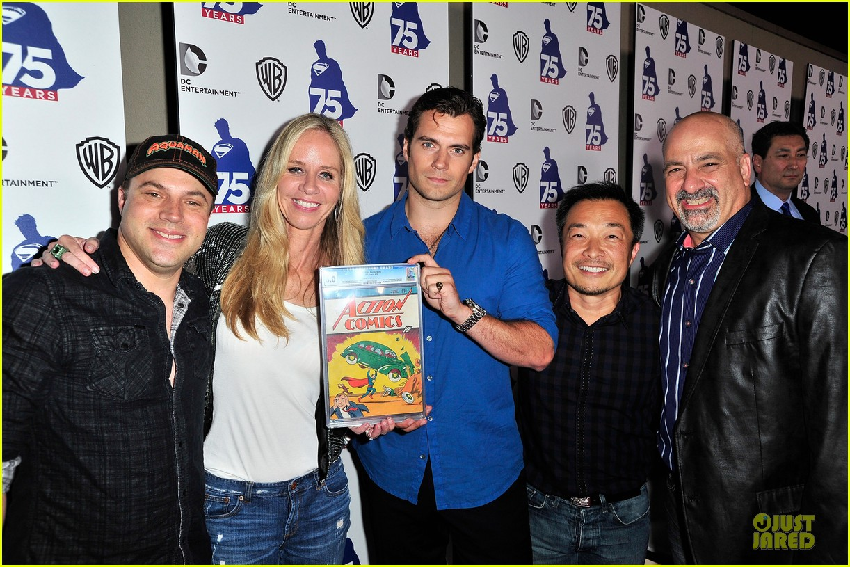 henry cavill superman 75 party at comic con 022912717