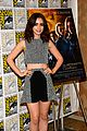 lily collins jamie bower campbell city of bones at comic con 06