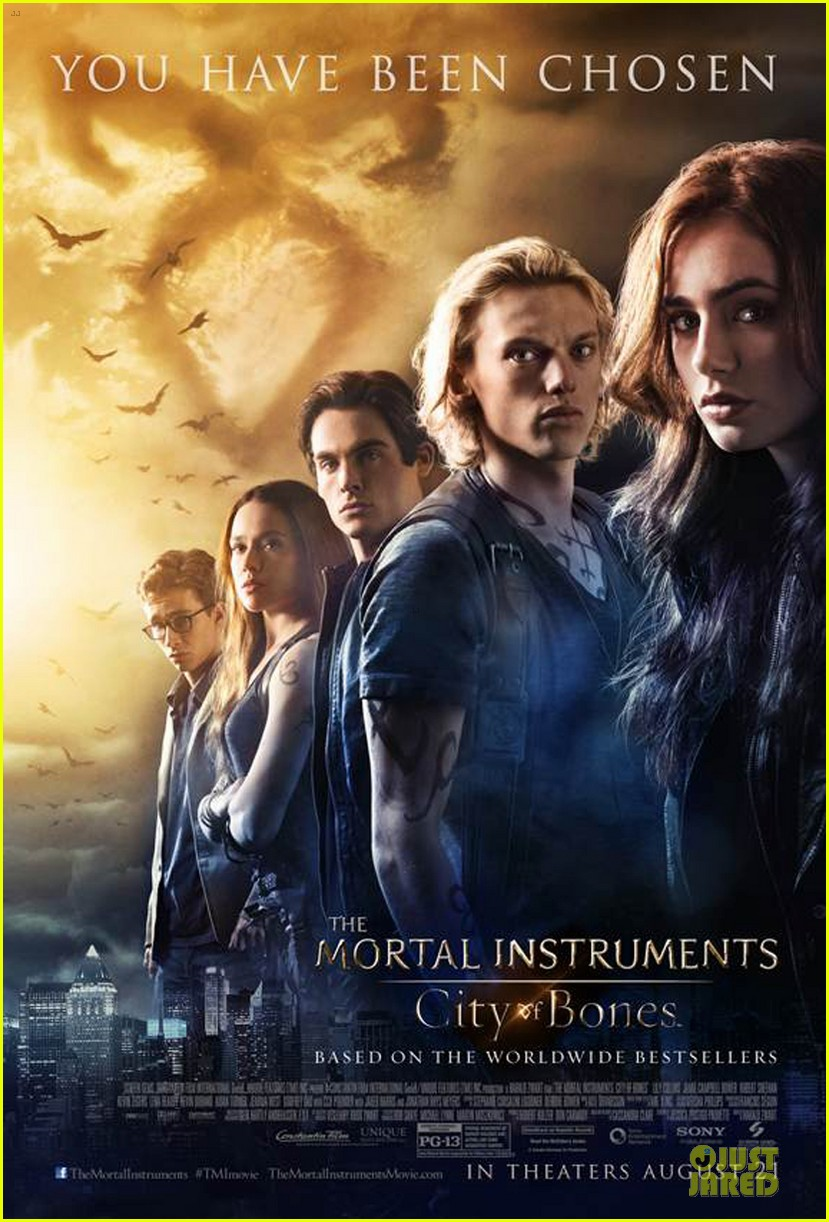 lily collins jamie campbell bower new mortal mortal instruments poster 012906142