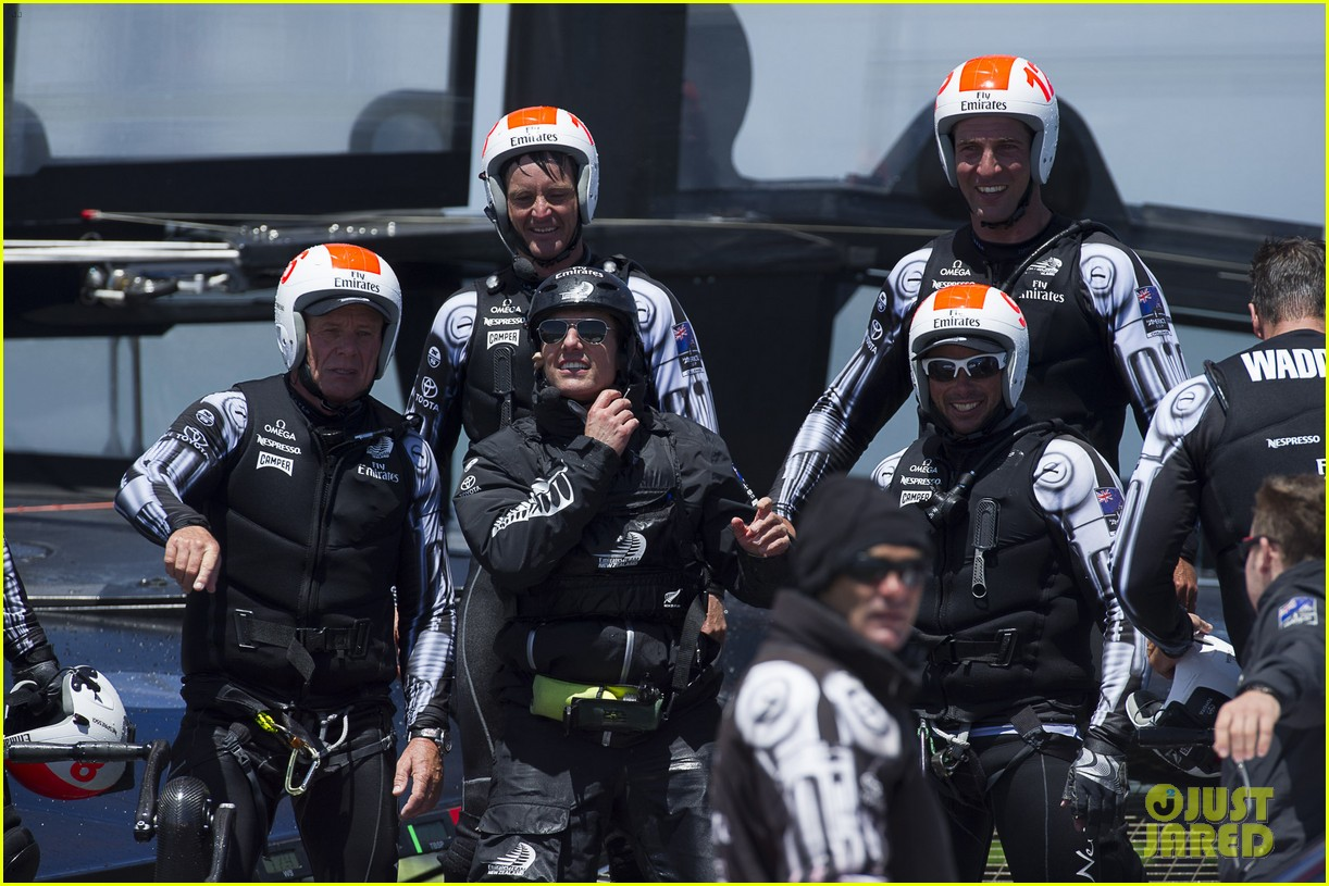 tom cruise connor emirates team new zealand sailing race 12