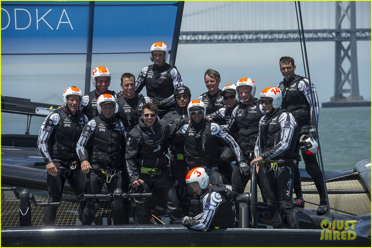 tom cruise connor emirates team new zealand sailing race 13
