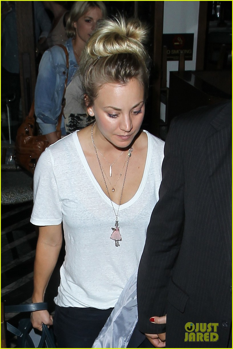 kaley cuoco leaves henry cavill at home for girls night 022907823