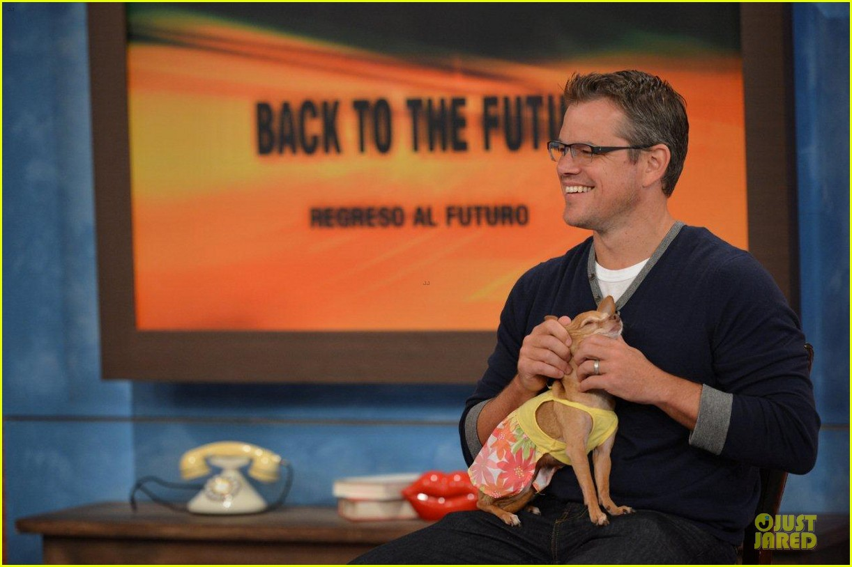 matt damon elysium promotion on despierta america 022919588