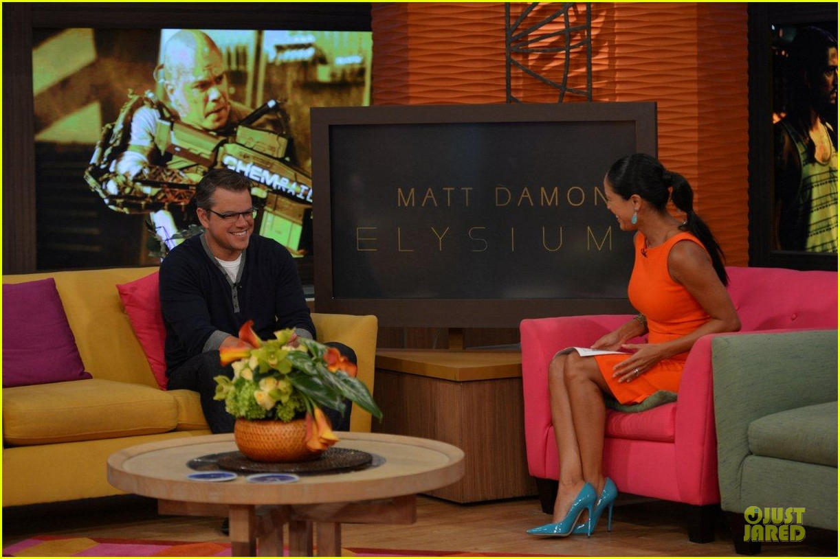 matt damon elysium promotion on despierta america 042919590