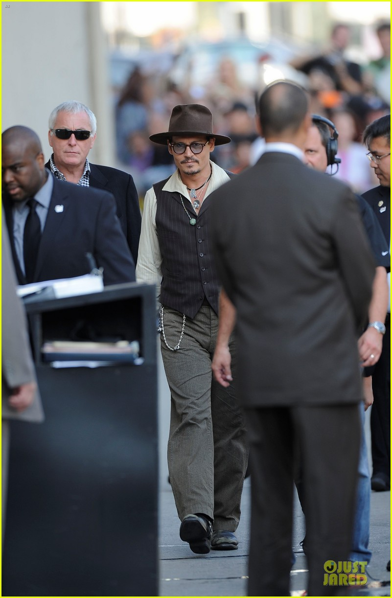 johnny depp lone ranger promotion on jimmy kimmel live 012902361