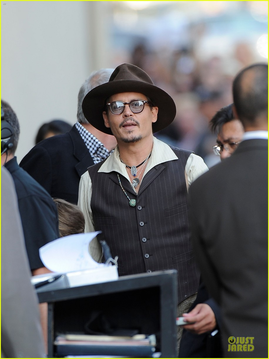 johnny depp lone ranger promotion on jimmy kimmel live 042902364